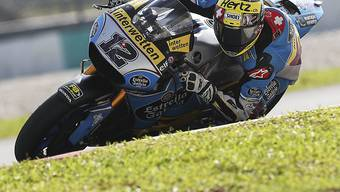 Tom Lüthi büsst am ersten Trainingstag auf dem Circuit in Termas de Rio Hondo auf MotoGP-Weltmeister Marc Marquez rund 2,5 Sekunden ein