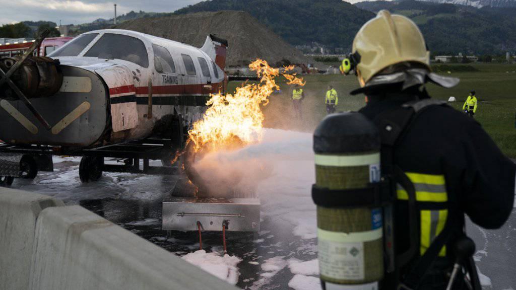 Rettungskräfte proben Ernstfall in Thun