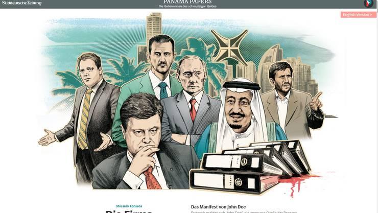 Screenshot Panama-Papers