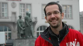 Roman Burger: Der ehemalige Geschäftsleiter der Unia-Sektion Zürich vor dem Volkshaus Zürich. (Archiv)