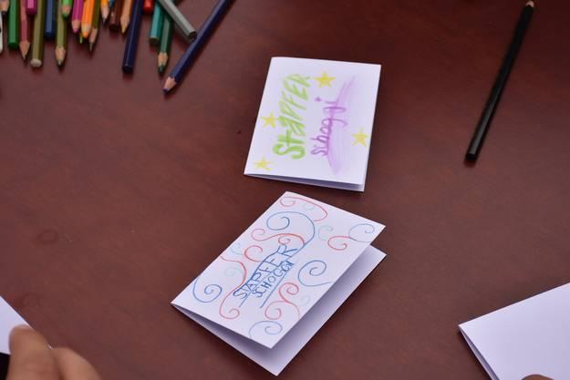 Die Etiketten wurden ebenfalls von den Schülerinnen und Schülern gestaltet.