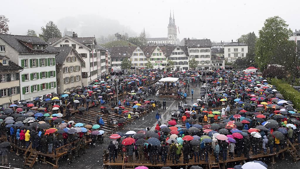 Die Glarner Landsgemeinde vom Sonntag, 5. Mai 2019, in Glarus war die bisher letzte, die in traditioneller Form durchgeführt wurde (Archivbild).