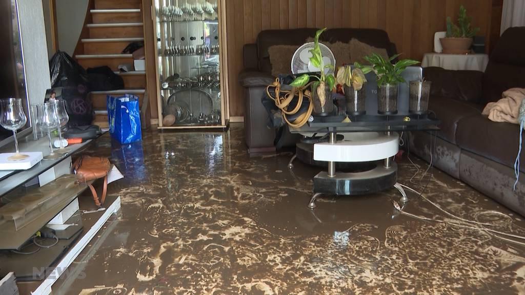 Heftige Gewitter überschwemmen Quartier in Seftigen