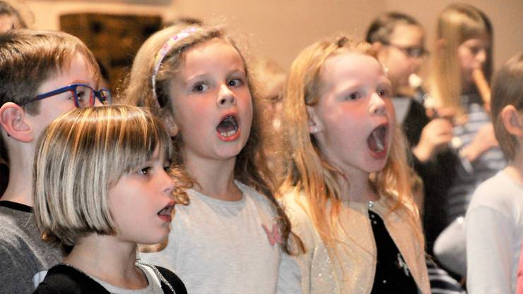 Die Schülerinnen und Schüler der Musikschule Matzendorf und den angeschlossenen Gemeinden begeisterten in der vollbesetzten Kirche in Aedermannsdorf.