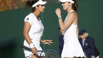Saison beendet: Martina Hingis (rechts) und Sania Mirza scheitern in Singapur im Halbfinal. (Archvibild)