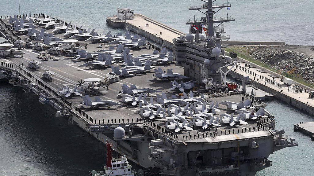 Der US-Flugzeugträger USS Ronald Reagan im Hafen von Busan in Südkorea. (Archivbild)