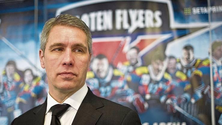 Bircher im Februar 2012, als er noch Präsident des Spitzenclubs Kloten war. Da rumorte es schon länger. Im Mai trat er dann zurück.