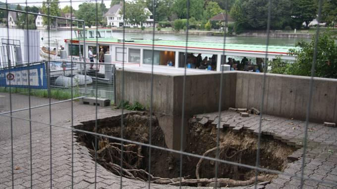 Loch bei der Schiffländte in Solothurn