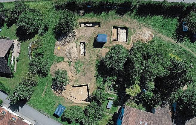 Die Ausgrabungen zeigen Überreste eines römischen Umschlagplatzes an der Limmat.