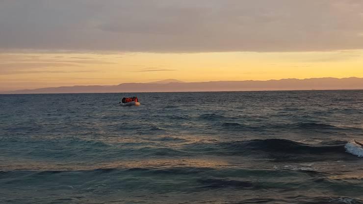 Dieses Boot war das erste, das Sabatini auf Lesbos in Empfang nahm.
