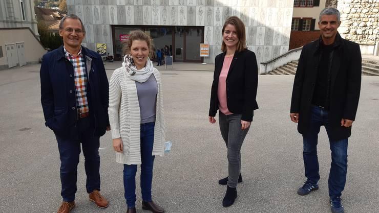 Das GLP-Quartett aus dem Bezirk Baden: Sander Mallien, Leandra Knecht, Manuela Ernst, Gian von Planta (v.l.).