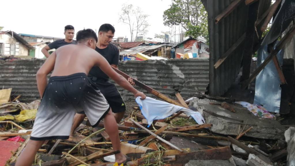 """Der Taifun """"Phanfone"""" hat auf den Philippinen eine Spur der Verwüstung hinterlassen."""