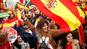 45000 Menschen gingen am Wochenende in Madrid auf die Strasse, um gegen die Regierung zu protestieren. Andrea Comas/Keystone