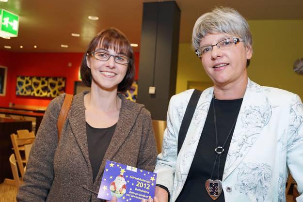 Chantal Stoll, Geschäftsführerin Calida und Sabine Billeter, Geschäftsleitung Zentrum Dietikon