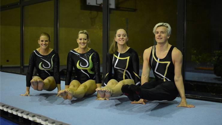 Nathalie Schneider, Sandra Kaufmann, Silja Mohler und Mika Hodel (v.l.) sind mitten in der Vorbereitung auf die SM. msu