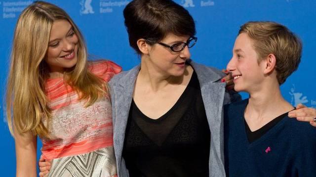 """Regisseurin Ursula Meier (Mitte) mit den """"Sister""""-Darstellern (Archiv)"""