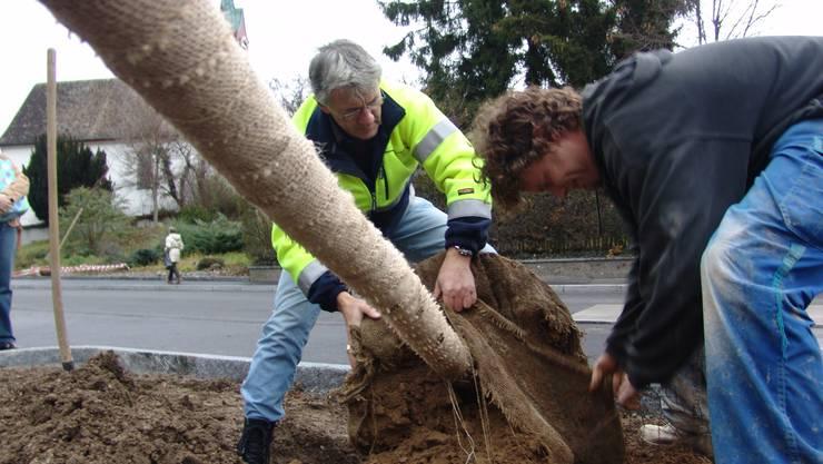 Wichtiger:  Werkhof Werkvorstand Lienhard (links) erhielt Unterstützung für Neubauprojekt. fuo
