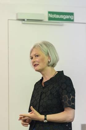 Doris Aebi. Mitgliederversammlung der GLP und Nommination der Regierungsratskandidaten. Aufgenommen am 9. August in Baden