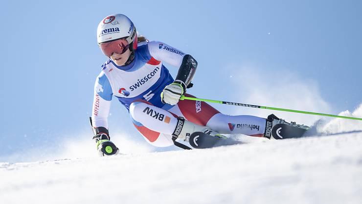 Camille Rast unterwegs zu ihrem Triumph an den Schweizer Meisterschaften