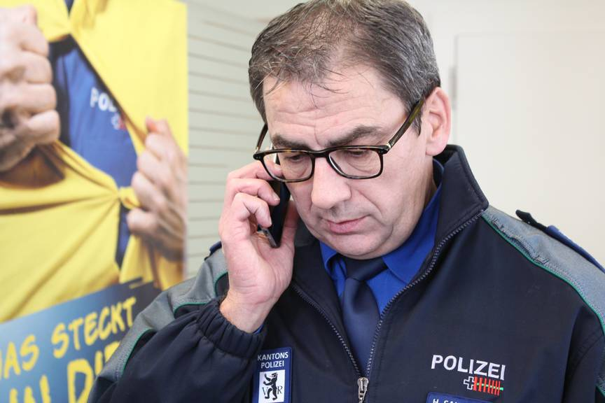 Hanspeter Saxer, Sprecher der Kapo AR © FM1Today/Sandro Zulian