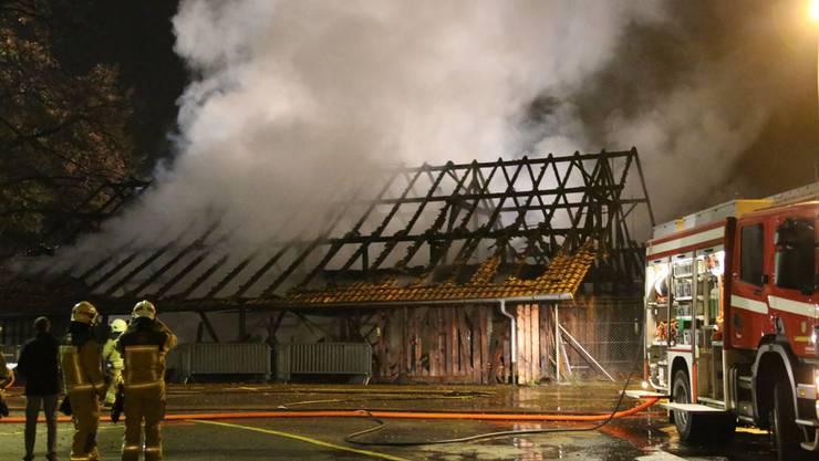 Lagerhalle brannte komplett nieder