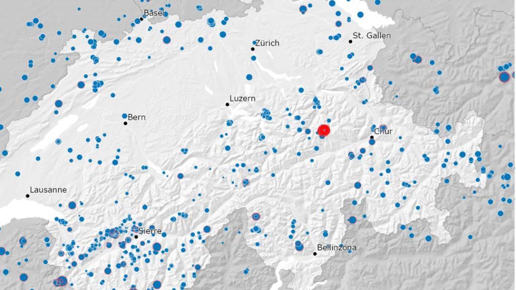 Im Jahr 2020 registrierte das Netz des Schweizerischen Erdbebendiensts 1400 Beben in der Schweiz und im grenznahen Ausland. Das stärkste Erdbeben ereignete sich im Oktober im Glarnerland. (Pressebild)
