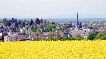Die Idylle täuscht: Binningen kämpft mit einem Klumpenrisiko der besonderen Art (Blick vom Bruderholz auf die Heilig-Kreuz-Kirche).