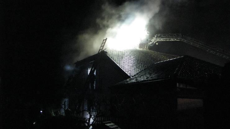 Das Feuer wurde kurz nach 1.30 Uhr gemeldet.
