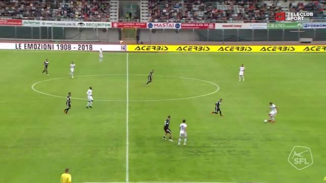 Luca Zuffi trifft zum 1:0 für den FC Basel.