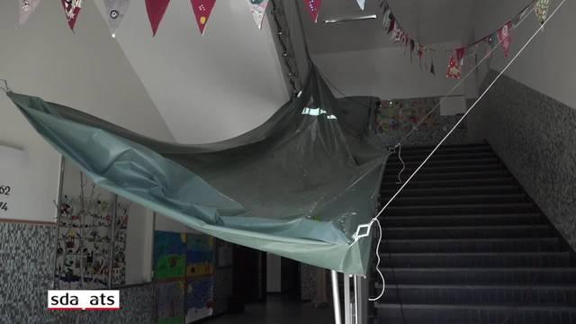 Schulhaus in Vevey VD nach Brand geschlossen