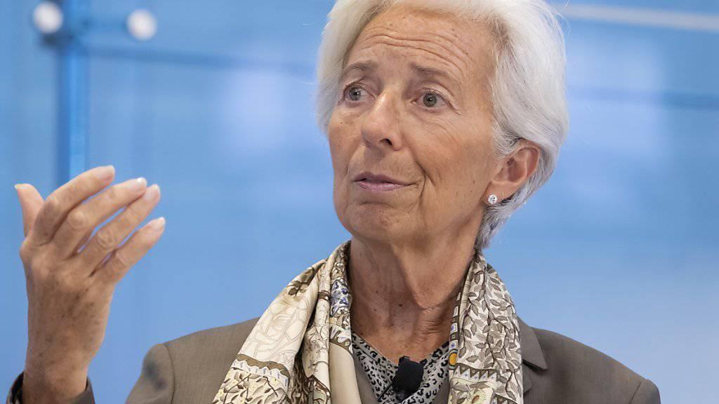 Die Euro-Finanzminister haben Christine Lagarde offiziell für die Nachfolge von Mario Draghi an der Spitze der Europäischen Zentralbank nominiert. (Archivbild)