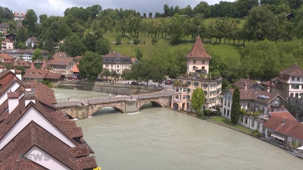 Die Wassermenge im Berner Mattequartier geht zurück