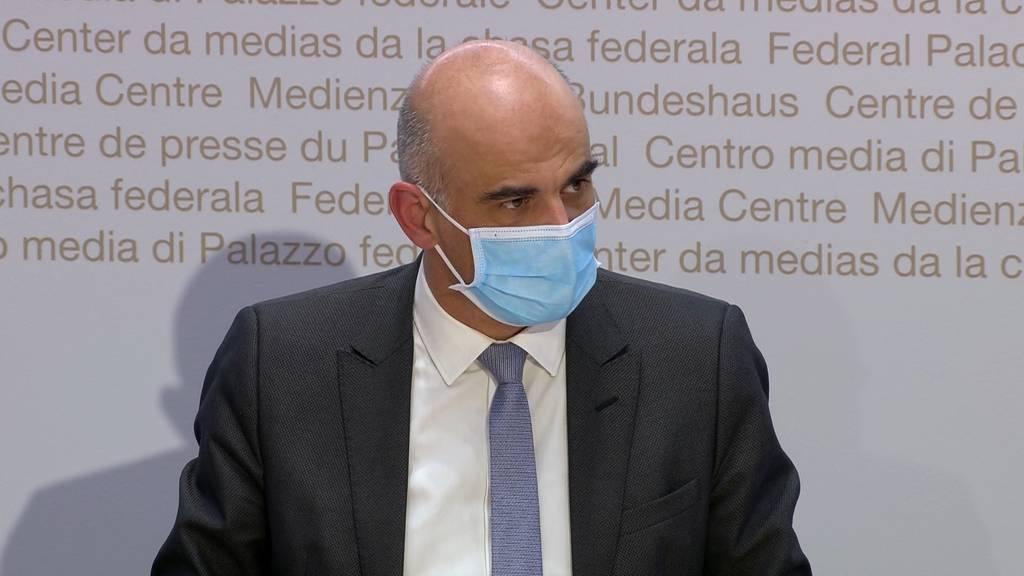 Alain Berset zu risikobasierten Lockerungen: «Situation bleibt instabil, wollen aber trotzdem öffnen.»
