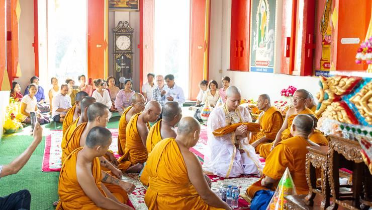 Der Aargauer Robin Heiz wurde in Thailand zum Mönch.