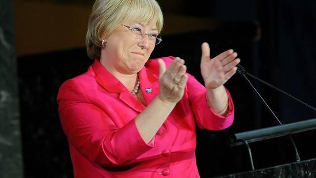 Michelle Bachelet bei der Gründungsfeier