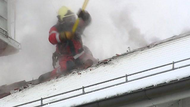 Riegelhaus in Benken brennt