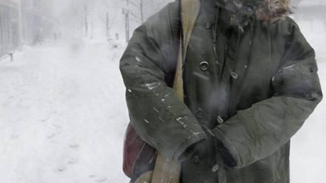 Kälte und Schnee in Washington