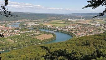 Blick von der Mumpfer Fluh in Richtung Stein-Bad Säckingen. (Archiv)