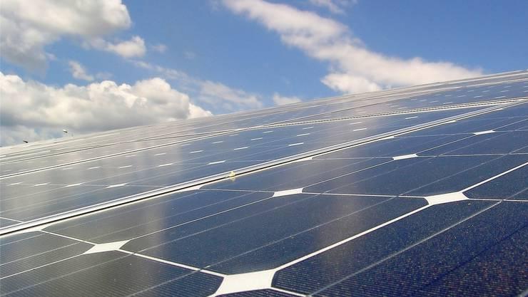 Rolf Dünhaupt und Franziska Hercher von der Firma BZA AG Solar ist auch für den Aufbau und Betrieb grosser Photovoltaikanlagen zuständig.