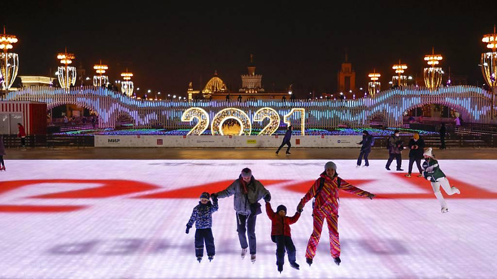 Trotz Corona: Schlittschuhbahnen öffnen in Moskau