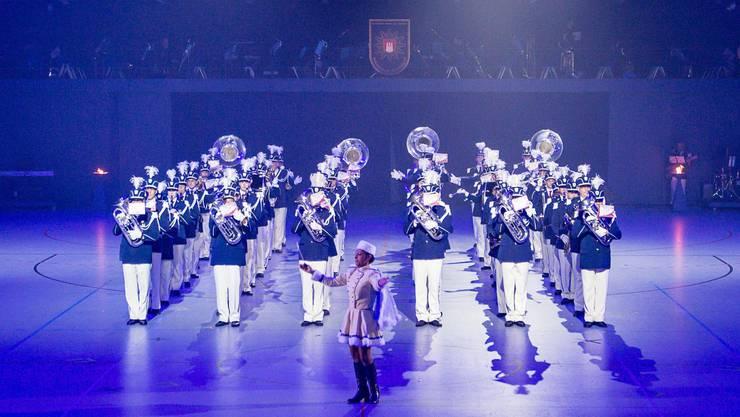 Der Musikverein Bubendorf während seines Auftritts an der Internationalen Polizeishow 2015 in Hamburg.