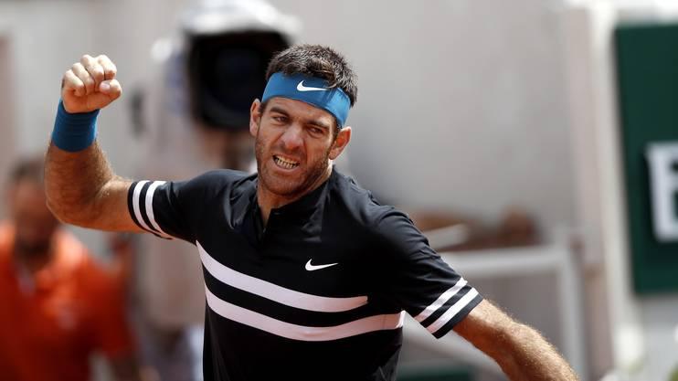 Juan Martin Del Potro steht zum zweiten Mal in den Halbfinals der French Open.