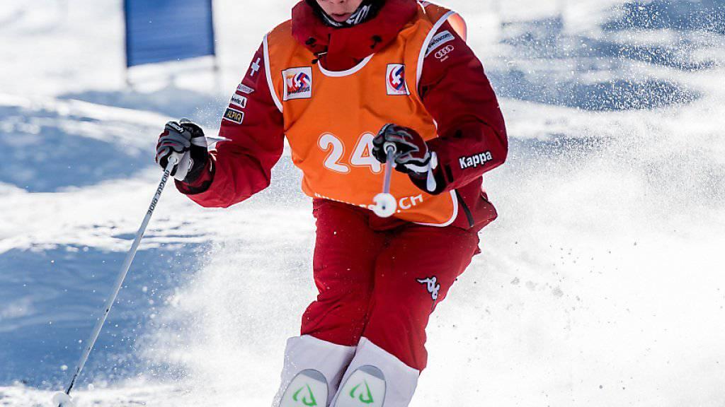 Nach Platz 4 im Einzelrennen hat es für Marco Tadé an der WM in der Sierra Nevada im Wettbewerb Doppel-Buckelpiste doch noch mit einer Medaille geklappt
