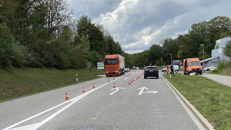 Der Unfallverursacher konnte von der Polizei angehalten und befragt werden.