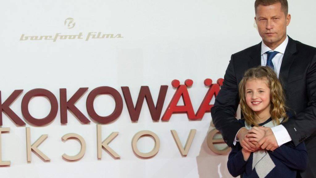 """Til Schweiger und seine Tochter Emma vor der Premiere des Films """"Kokowääh 2"""" 2013 in Berlin (Archiv)"""