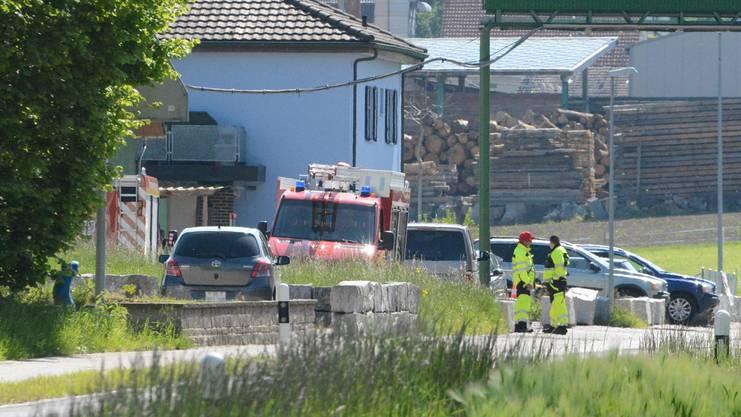 Die Einsatzkräfte konnten am Donnerstagnachmittag nur noch den Tod der verunfallten Person feststellen.