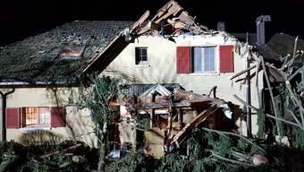 Burglind-Schäden an der Bergstrasse in Solothurn