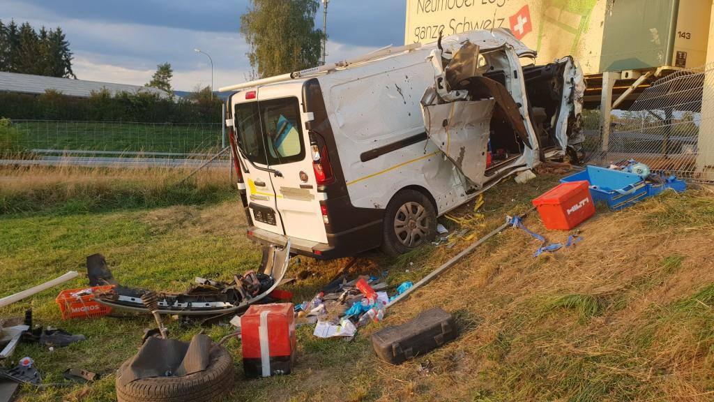 Schwerer Unfall auf A7 (© BRK News)