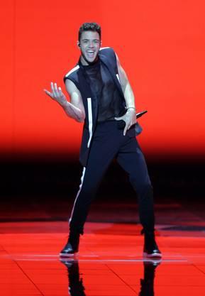 Weitere Impressionen von Luca Hännis Halbfinal-Performance in Tel Aviv.