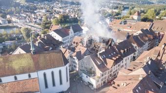 Feuer in Rathausgasse Aarau, Altstadt